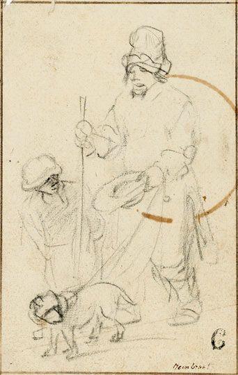 Rembrandt drawing found in Scottish attic