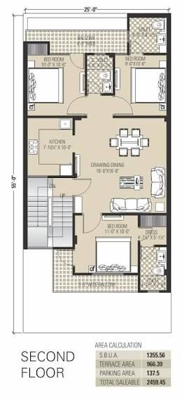 Image Result For 2 Bhk Floor Plans Of 25 45 Small House Plans 30x40 House Plans New House Plans