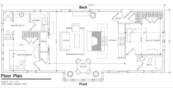 Cabin Style House Plan 2 Beds 2 Baths 1015 Sq Ft Plan 452 3 Cottage House Plans New House Plans Cabin Floor Plans