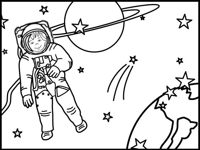 Olivia Rainbow Guide Colouring Picture Space Coloring Pages Outer Space Art Clip Art