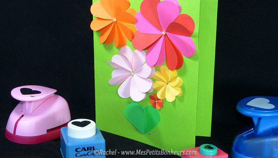 bricolage carte fete des meres enfant avec fleurs. Black Bedroom Furniture Sets. Home Design Ideas