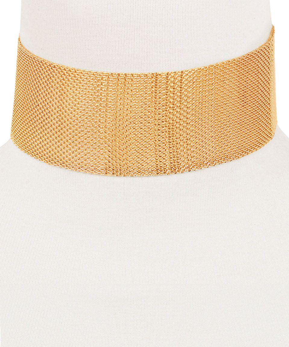 Look at this #zulilyfind! Sparkling Sage Gold Mesh-Chain Choker Necklace by Sparkling Sage #zulilyfinds