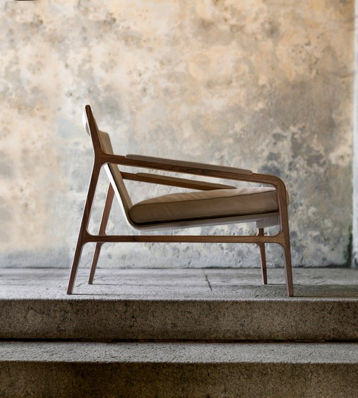 Charles Occasional Chair   CliffYoung is part of Wooden lounge chair - The chair invites you to experience total comfort thanks to the feather padding of its seat, ideal for residential and contract spaces