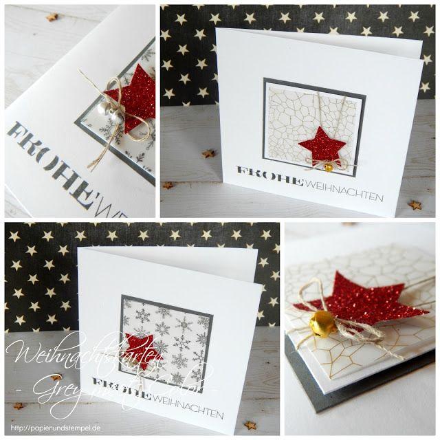 weihnachtswerkstatt 17 2015 karte grau rot gold. Black Bedroom Furniture Sets. Home Design Ideas