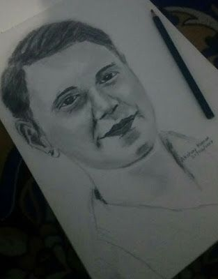 Akshay kumar pencil drawing sketch of lavenesh sharma from delh