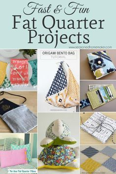 Things to Make with Fat Quarters #sewingcrafts