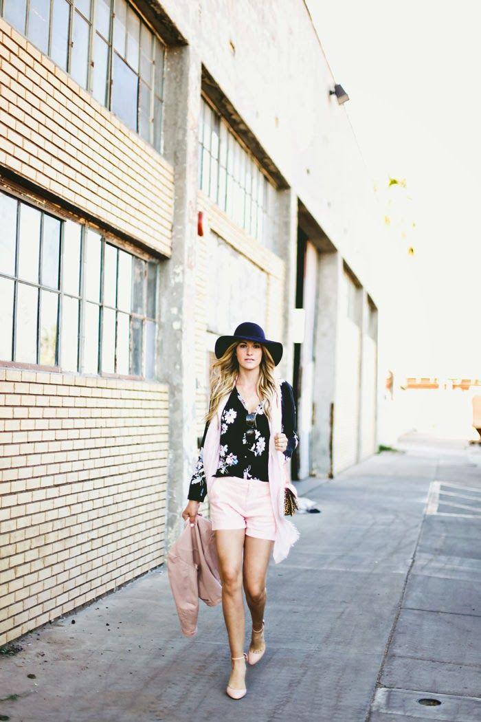 Blush, Pink, Dusty Rose, Pale Pink, Linen Shorts, Shorts, Pink Shorts, Joie Shorts, Joie Blouse, Joie Top, Floral Blouse, Flower Blouse, Joi...