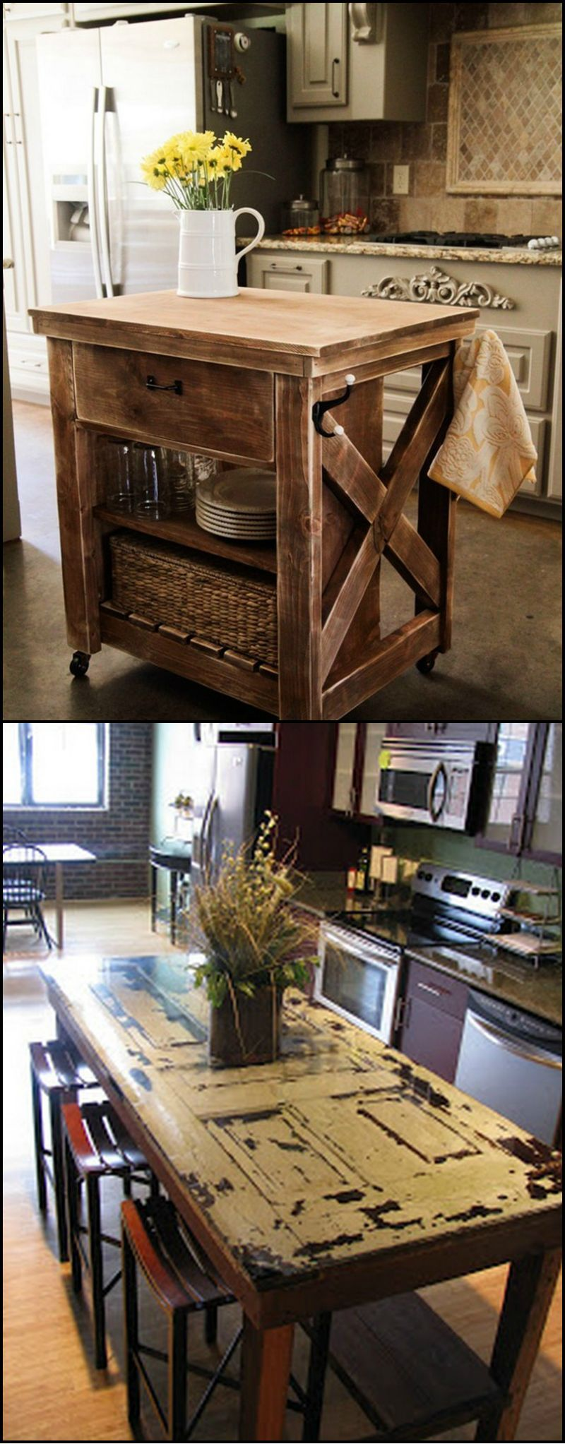 Adding or getting a new kitchen island can be expensive unless you build or upgrade your for Upgraded kitchen ideas