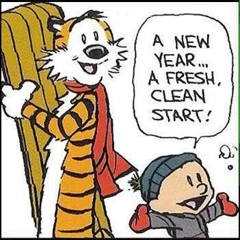 Calvin and Hobbes, Happy New Year 2017! A new year... a ...