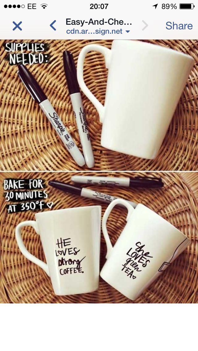 DIY Personalised mugs
