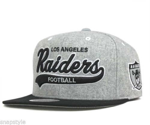 2609c367cc2c1 New-NFL-Los-Angeles-Raiders-Mitchell-Ness-Tailsweeper-Melton-Snapback-Strap