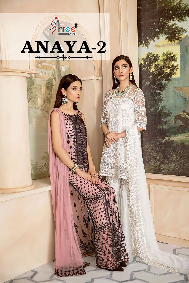 6c6a4ff0759 Shree Fabs Anaya Vol 2 Heavy embroidered Pure Organza Party Wear Pakistani  Dress Material Collection