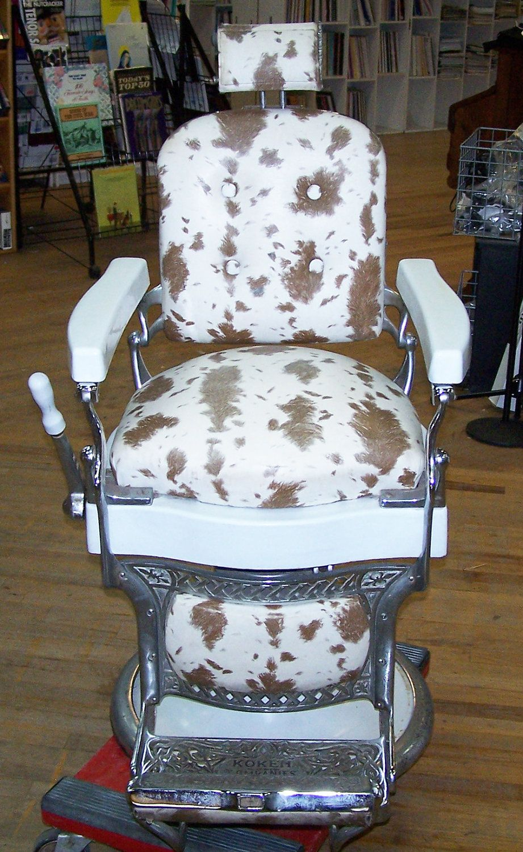 incredible l flip chair step barber koken custom antique restored