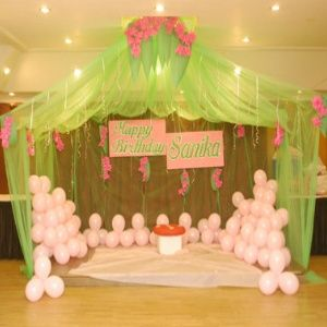 Decorating Ideas For A Birthday Party Tent