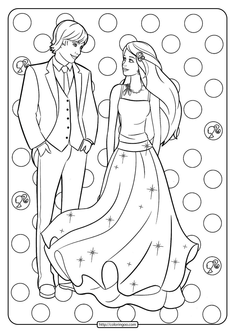 Free Printable Barbie And Ken Pdf Coloring Pages 14 Barbie Coloring Pages Barbie Coloring Mermaid Coloring Pages