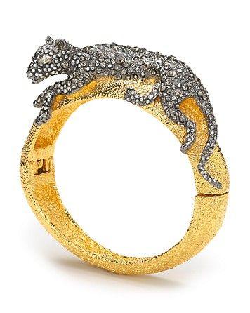 Alexis Bittar Siyabona Sunset Gold Medium Panther Hinge Bracelet Bracelets Jewelry Accessories Bloomingdale S