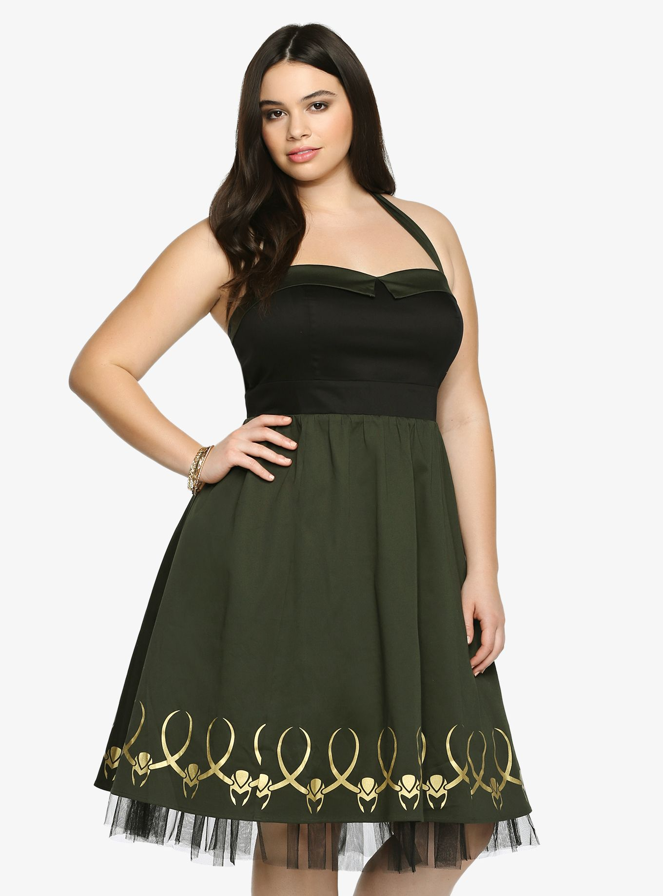 93bd4c81c16 Marvel By Her Universe Collection Loki Cosplay Halter Dress in 2019 ...