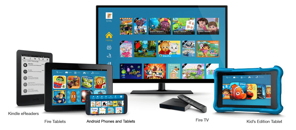 Amazon FreeTime Unlimited is available on Fire Tablets