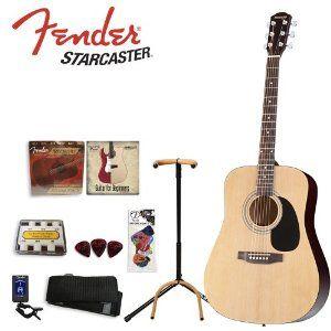 Fender Starcaster Nat Kit 04 Starcaster Natural Acoustic Guitar