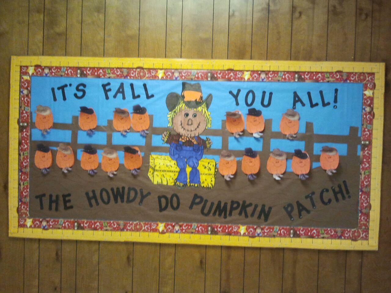 Fall Western Pumpkin Patch Board School Bulletin Boards