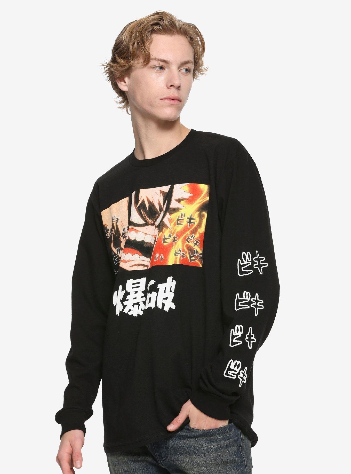 My hero academia bakugo longsleeve tshirt my hero