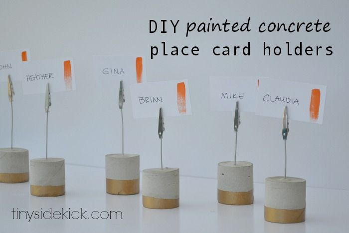 Wouldn't this also be perfect to mark meats, cheeses etc... diypaintedconcreteplacecardholders