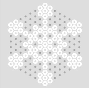 Schneeflocken Basteln Mit Bugelperlen 0