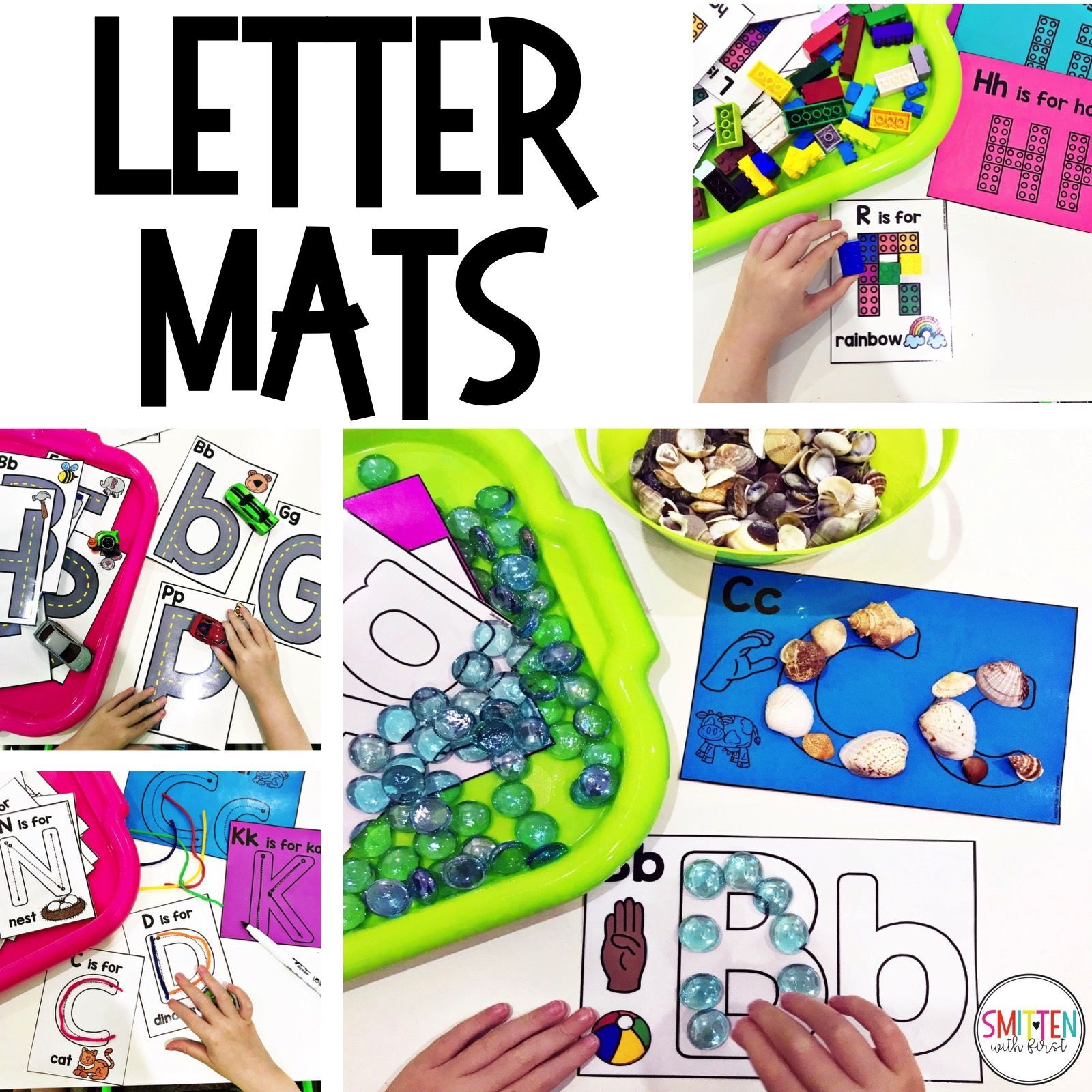 Alphabet Activities Letter Mats For Fine Motor Skills