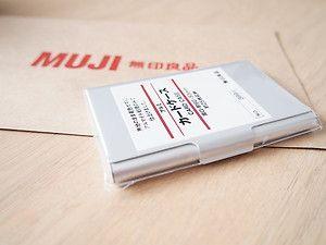 MUJI aluminum card case