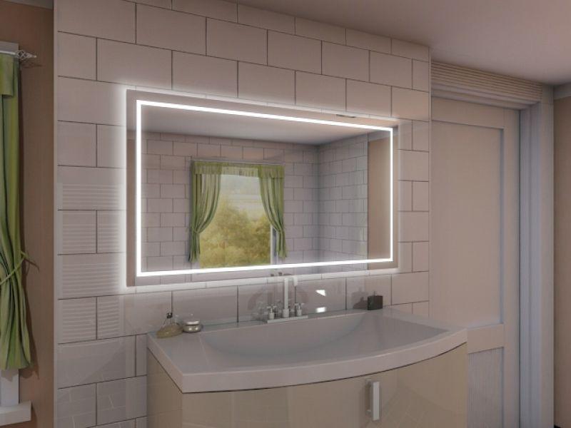 189,99u20ac 100x80 Badspiegel mit LED Beleuchtung - Aurora M215L4 - led beleuchtung im badezimmer