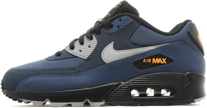 8b6c098e4b5 Nike Air Max 90 - Squadron Blue Silver Black - Mens