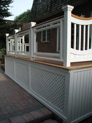 Elements Of A Custom Deck An Example Deck Skirting Deck