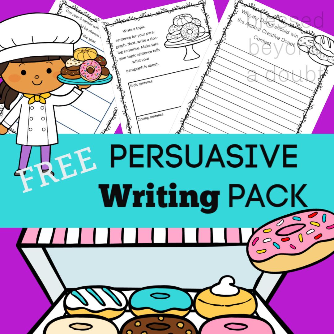 Free Persuasive Writing Packet