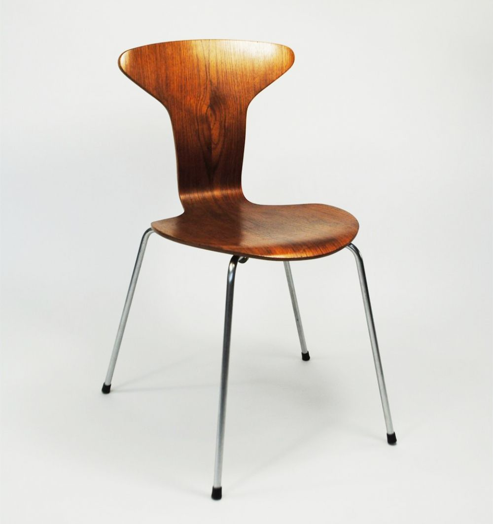 Design Scandinavo Anni 50 for sale: mosquito dining chair by arne jacobsen for fritz