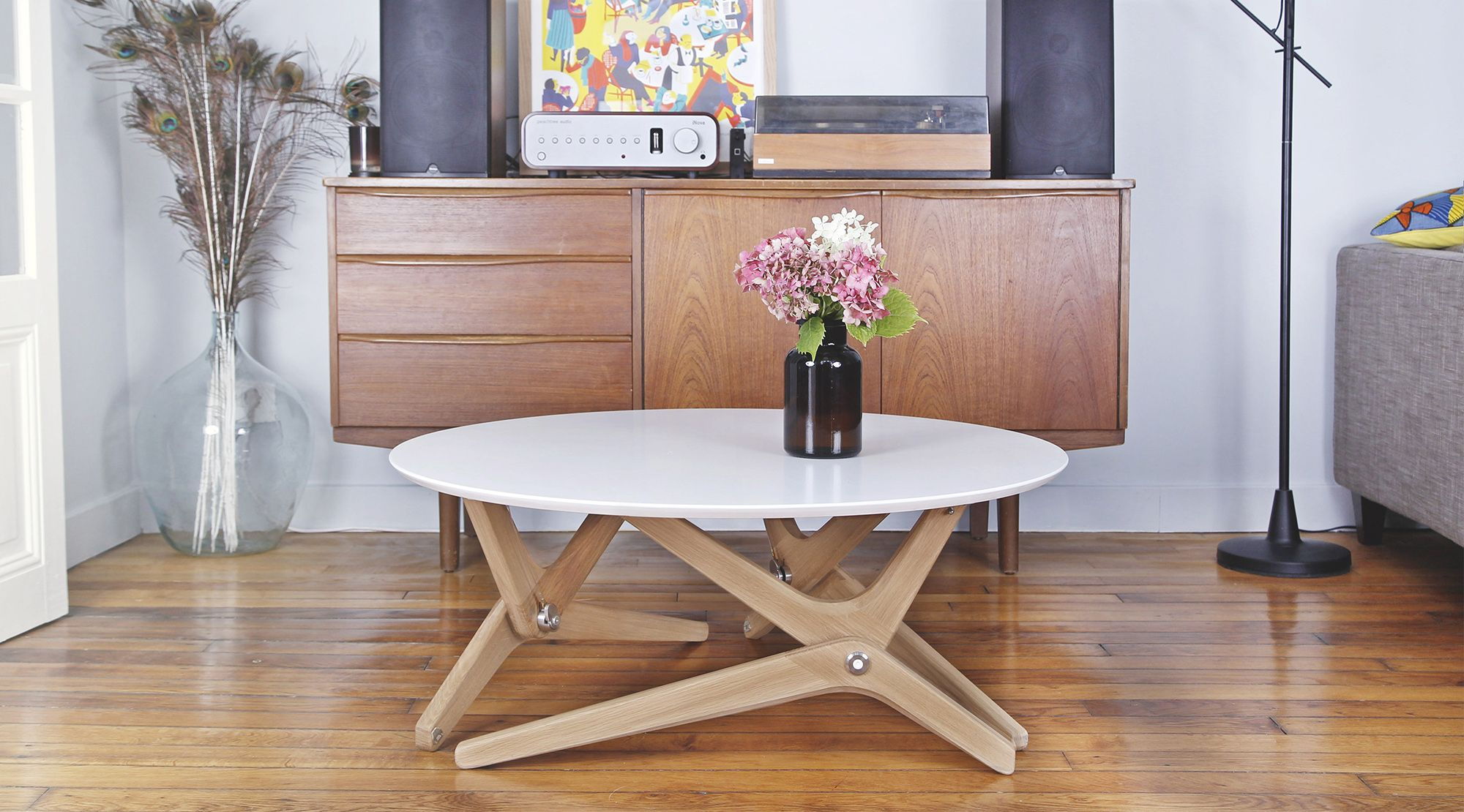 Boulon blanc dining table coffee table to dining