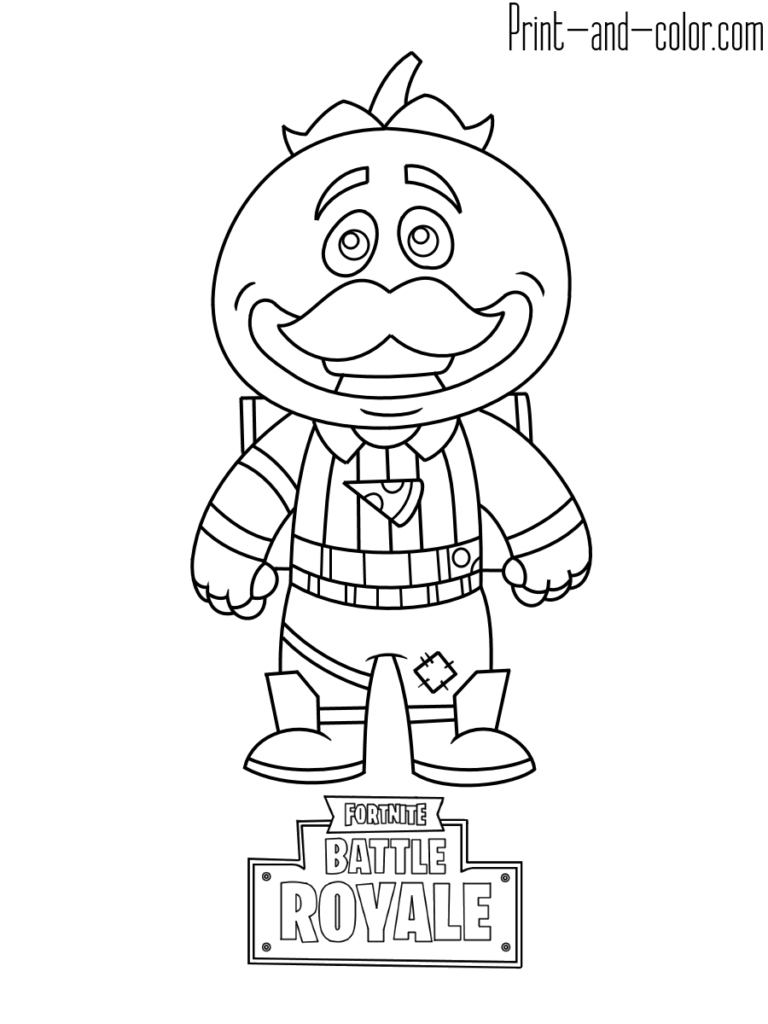 Fortnite Battle Royale Coloring Page Tomatohead In 2019