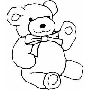 Teddy Bear Coloring Sheets4 231x300 Valentine Teddy Bear