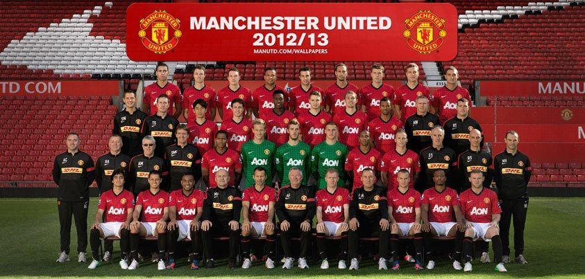 Manchester United 2012 2013 Team Glory Glory Man Utd Let S Go Red Devils I Dont Actually Like Any Football Team But Plz Manchester United Manchester Pengikut