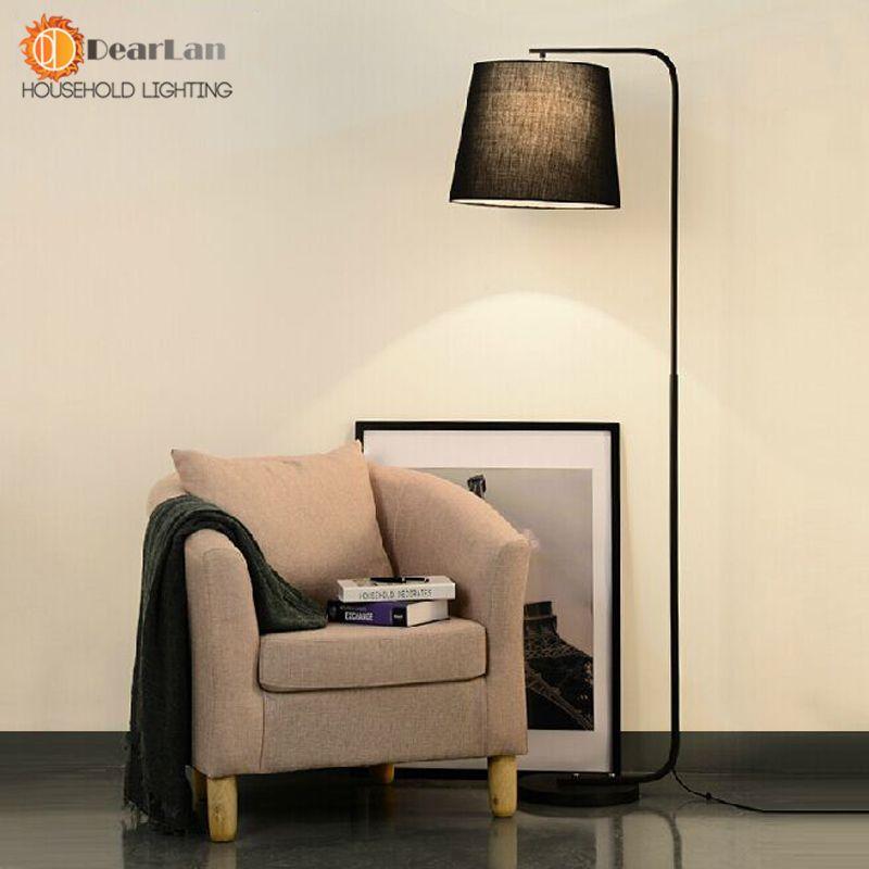 Floor Lamp Modern Brief Bedroom Lights Living Room Standing Lamps