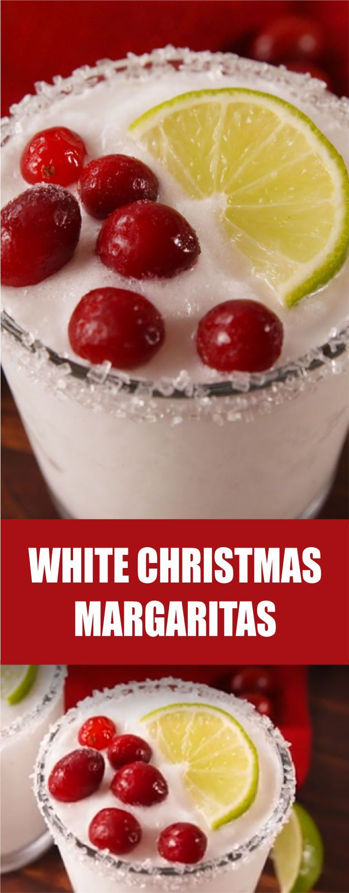 White Christmas Margaritas Recipe #christmasmargarita