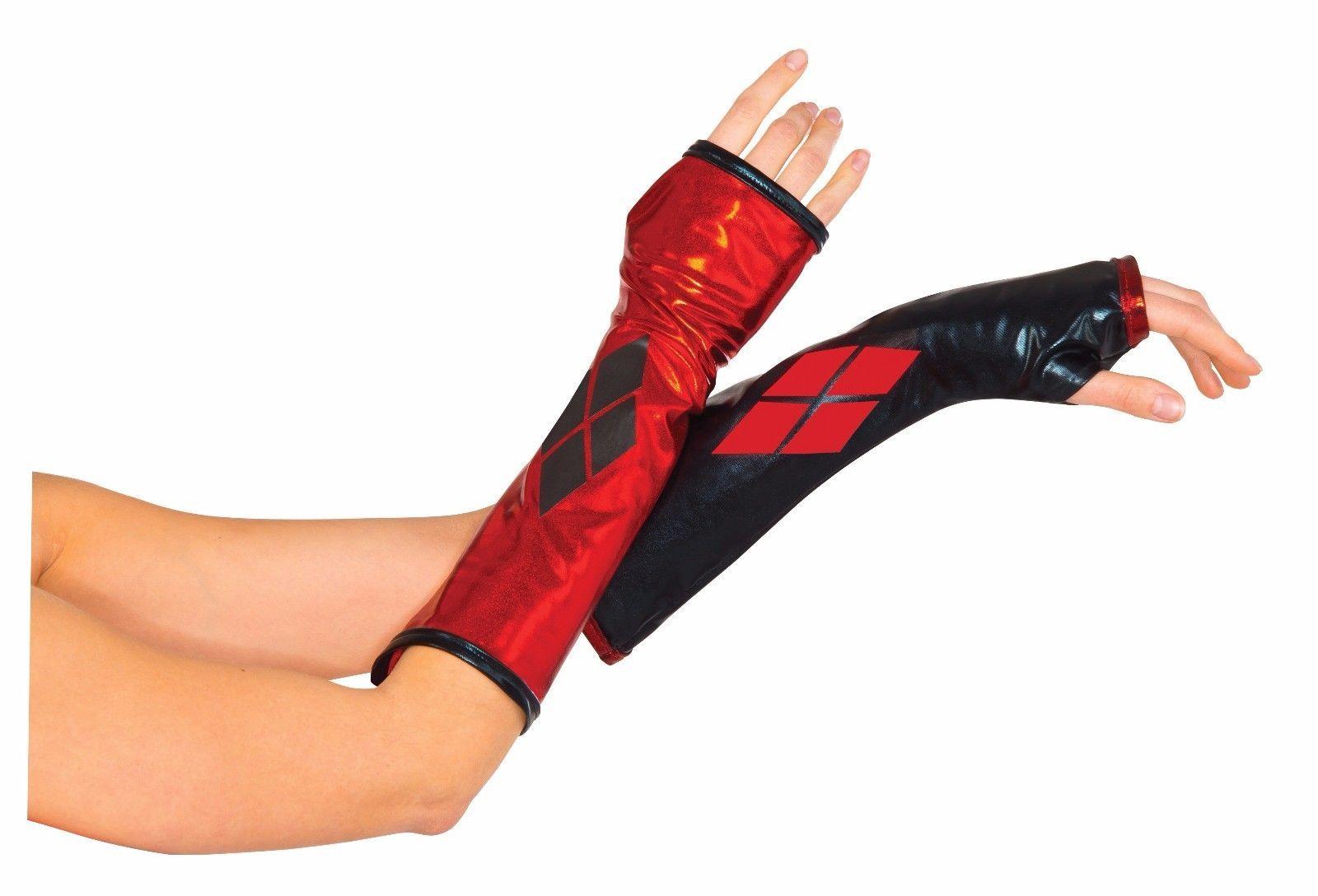 DC Comics Superhero Harley Quinn Gauntlets Accessory