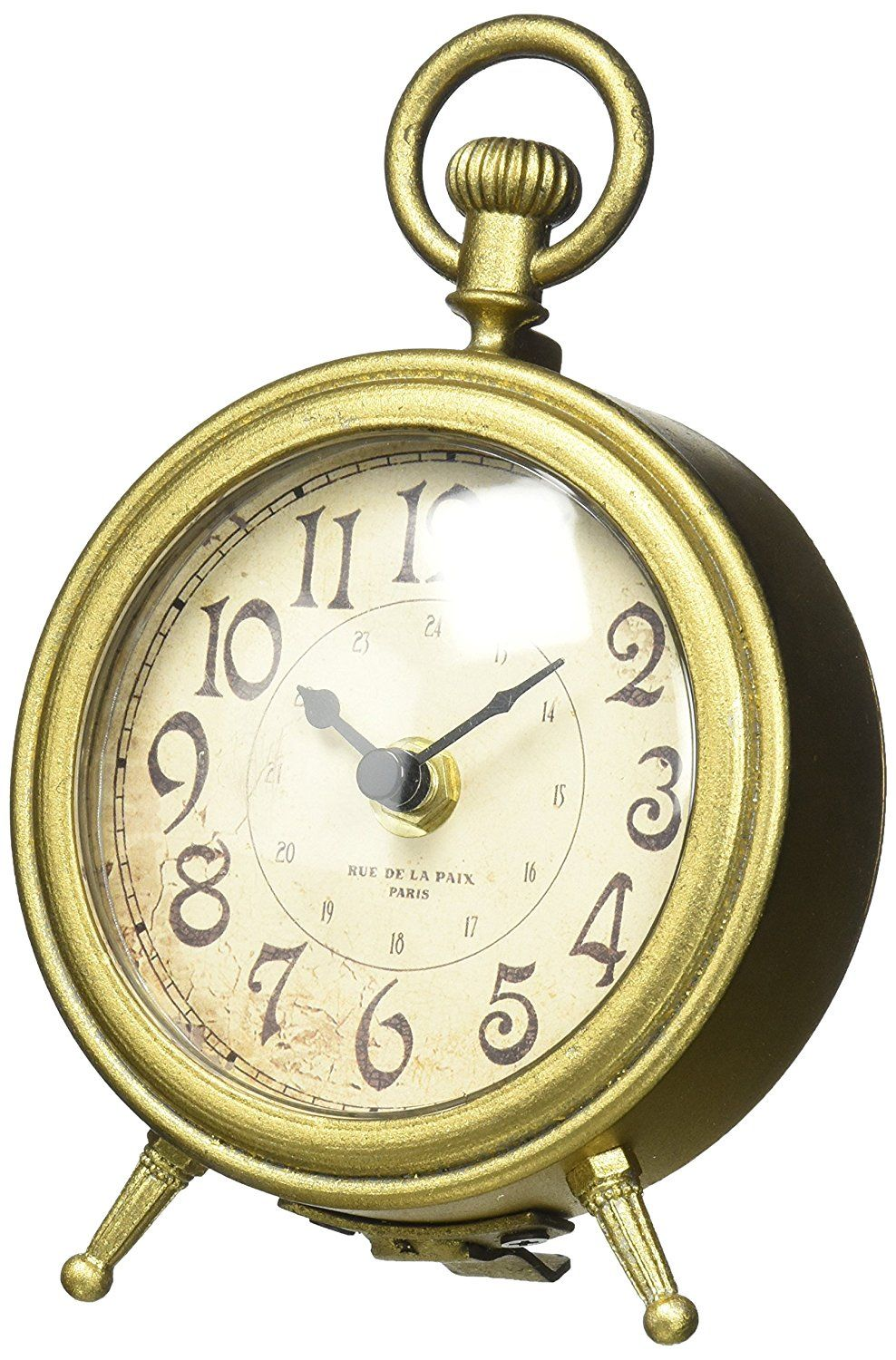 Nikky Home Metal Small Vintage Table Clock Decorative With Pocket