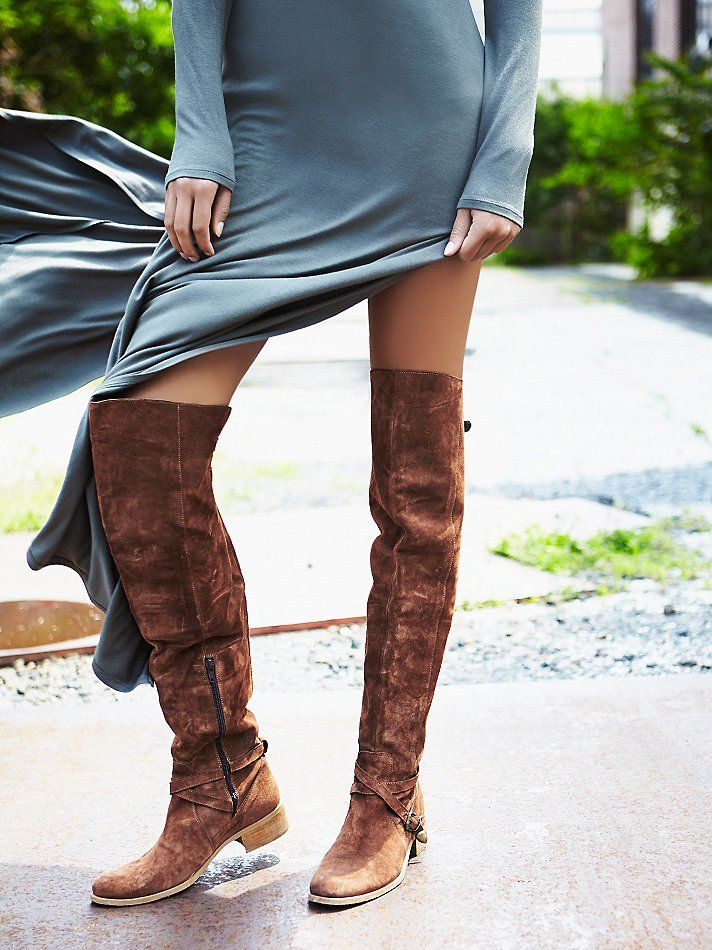 Free People Amorosa Suede Over The Knee Boot   Free people The o