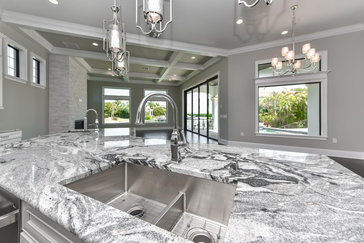 Gourmet Kitchen with Exotic Granite Counter-top and Luxury High End ...