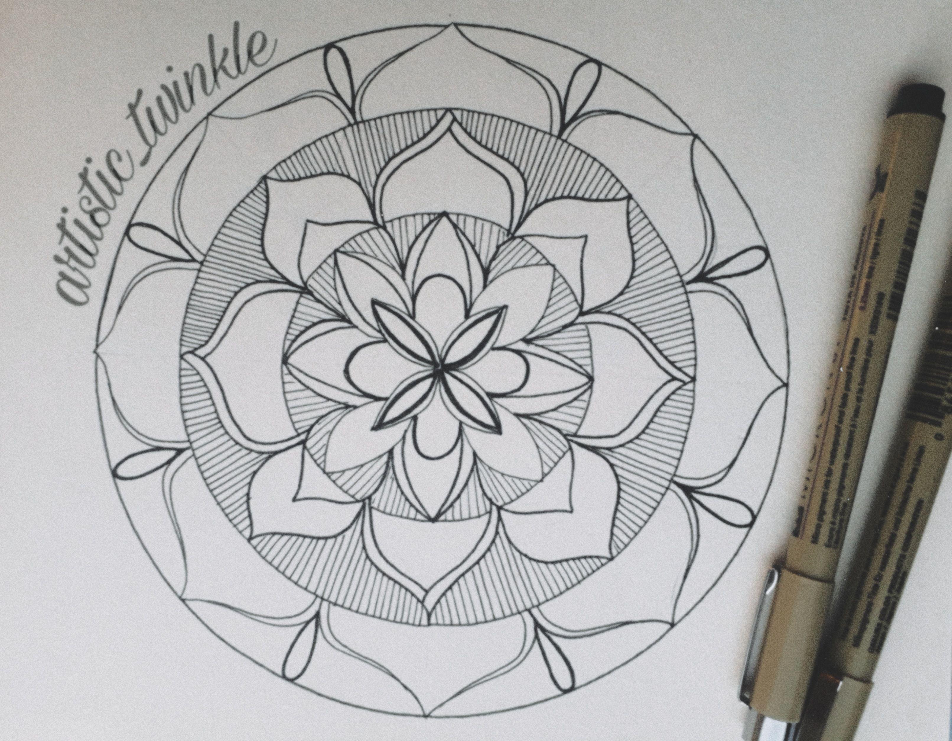 #mandala #art #design #simple #artist #follow #painting #lovedesign @madalaart