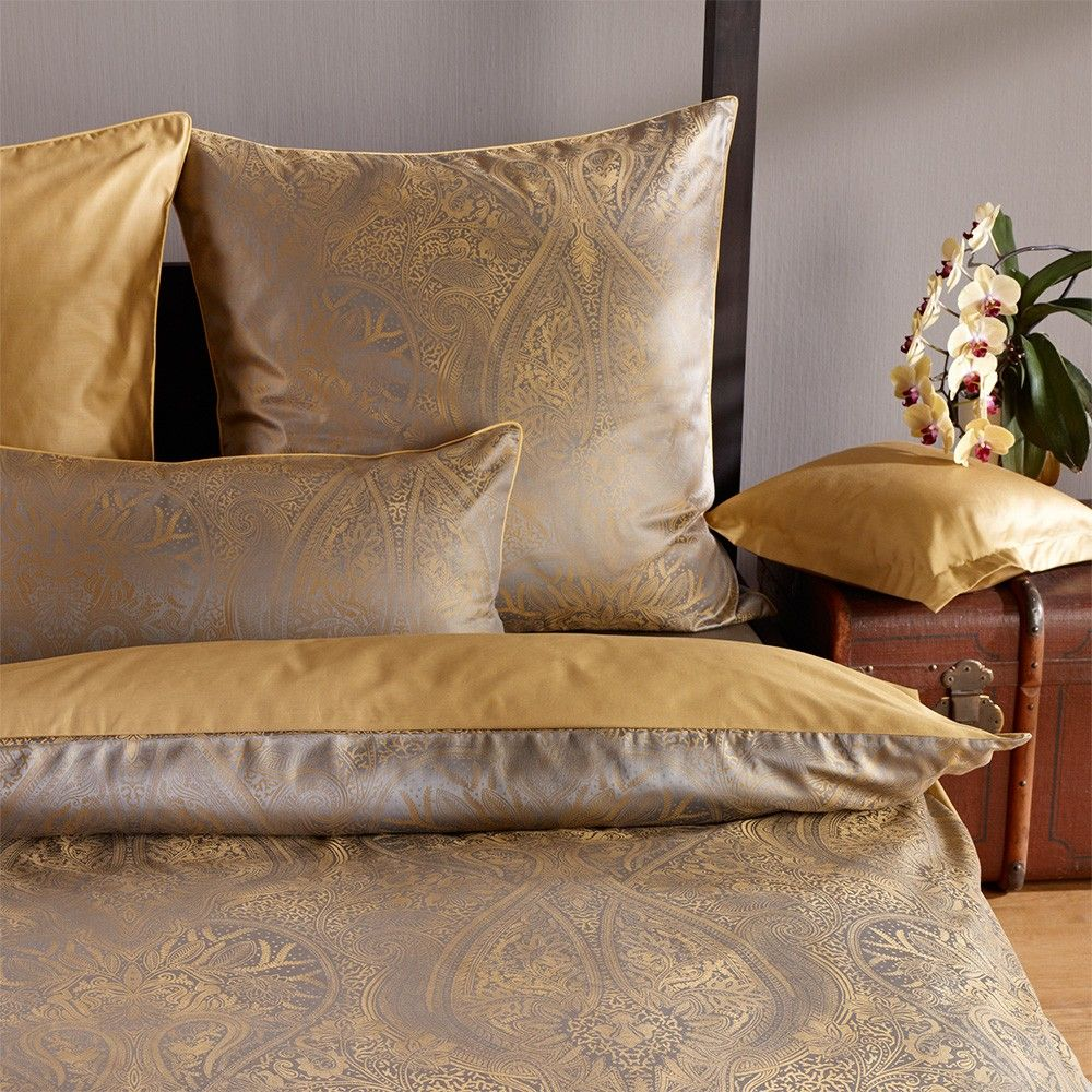 Curt Bauer Mako Brokat Damast Bettwasche Delhi Messing Gunstig Online Kaufen Bei Bettwaren Shop Damast Bettwasche Bettwasche Bettwasche Online