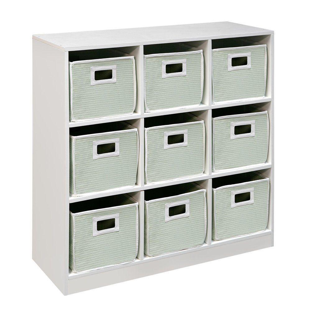 Badger Basket 9-Cube Storage Unit - White (baskets extra)  sc 1 st  Pinterest & Badger Basket 9-Cube Storage Unit - White (baskets extra) | Wood ...