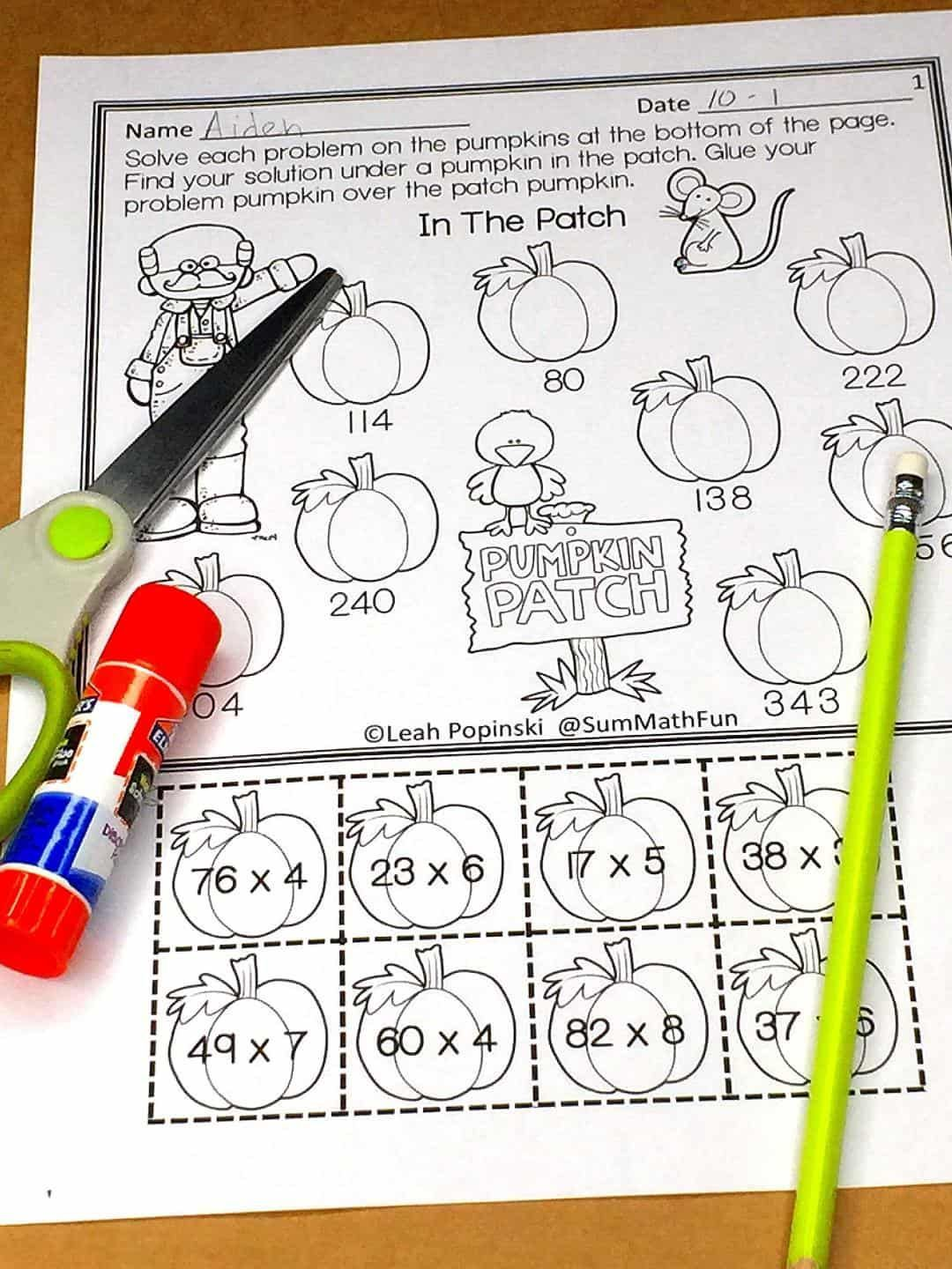 Free Multi Digit Multiplication Worksheets In