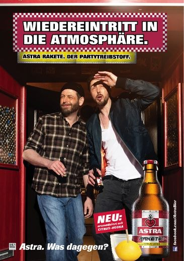 bilder astra plakate bier werbung