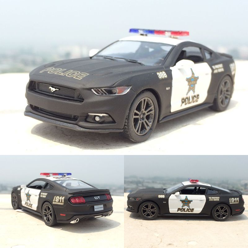 Brand New 1:38 Ford 2006 Mustang GT Police Alloy Diecast Model Car ...